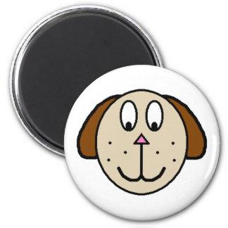 Dibujo grande del dibujo animado del perro de Brow Imán Redondo 5 Cm