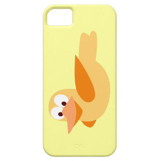 Dibujo infantil divertido pato  volando iPhone 5 Case-Mate cárcasa