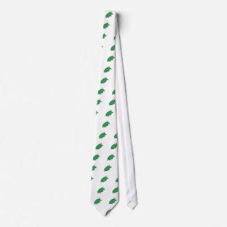 Dibujo lindo de la rana verde corbatas