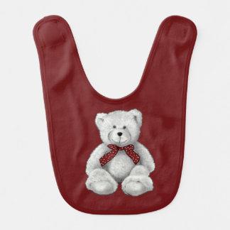 Dibujo lindo del oso de peluche, oso en lápiz baberos de bebé