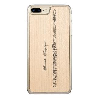 Dibujo lineal de la flauta, nombre funda para iPhone 8 plus/7 plus de carved