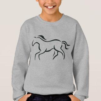 Dibujo lineal del caballo sudadera