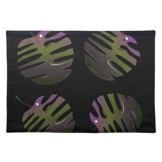 Dibujo original 3D de las palmas de lujo Salvamanteles