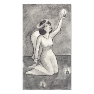 Dibujo original único hermoso del arte del ángel tarjetas de visita