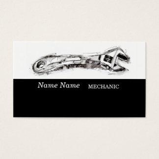 Dibujo para el fontanero del mecánico del tarjeta de negocios
