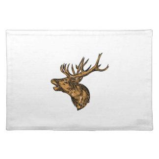 Dibujo principal del rugido del macho del ciervo salvamanteles