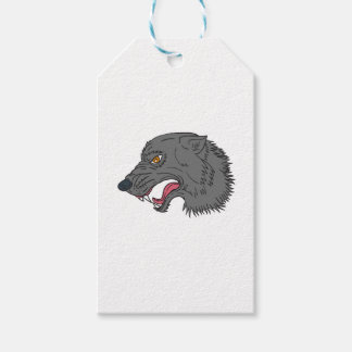 Dibujo principal el gruñir del lobo gris etiquetas para regalos