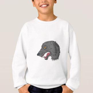 Dibujo principal el gruñir del lobo gris sudadera