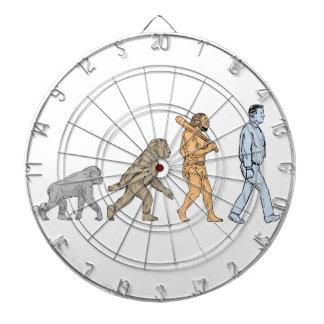 Dibujo que camina de la evolución humana diana