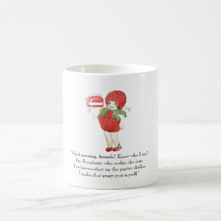 Dibujo rojo de la fruta de los niños lindos de la taza de café