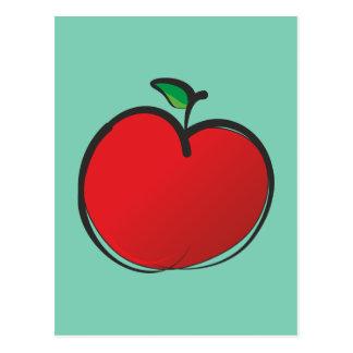 Dibujo rojo grande de Apple Postal