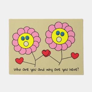 Dibujo rosado divertido lindo de las flores