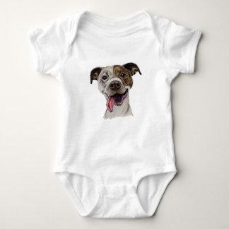 Dibujo sonriente del perro del pitbull body para bebé