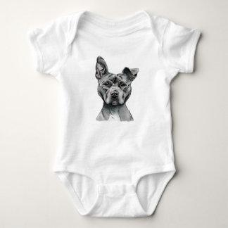 Dibujo Stalky del perro del pitbull Body Para Bebé