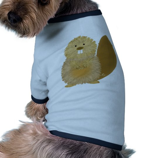 Dibujos animales adorables: Castor Camiseta Con Mangas Para Perro