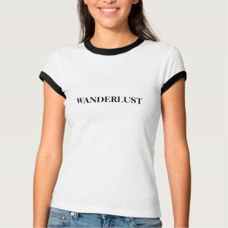 diccionario del wanderlust que significa diseño camiseta