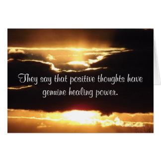 Dicen que los pensamientos positivos tienen conseg tarjeta de felicitación