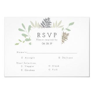 Dicha botánica el | RSVP Invitación 8,9 X 12,7 Cm