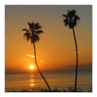 Dicha de la puesta del sol invitación 13,3 cm x 13,3cm