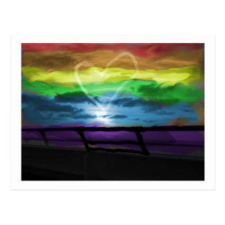 Dicha del arco iris postal