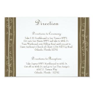 dicha del bambú de la tarjeta de 3,5 x 5 invitación 8,9 x 12,7 cm