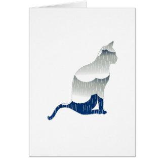 Dicha felina tarjeta de felicitación