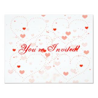 Dicha rosada (el día de San Valentín) Invitación 10,8 X 13,9 Cm