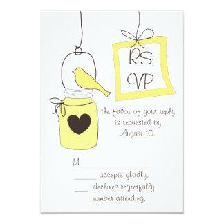 Dicha RSVP del limón Invitación 8,9 X 12,7 Cm