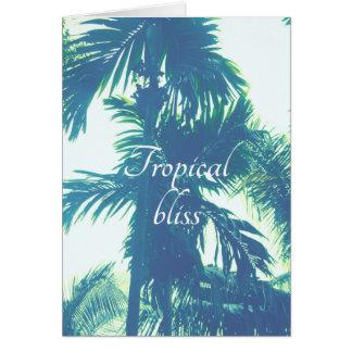 Dicha tropical tarjeta