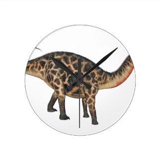 Dicraeosaurus en perfil lateral reloj redondo mediano