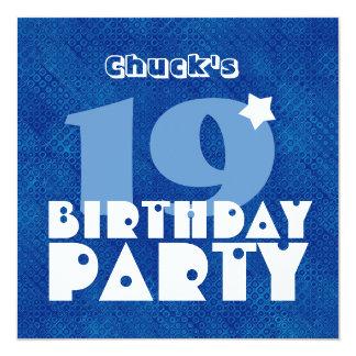 Diecinueveavo cumpleaños adolescente moderno invitación 13,3 cm x 13,3cm