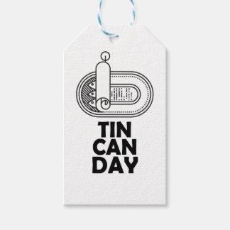 Diecinueveavo de enero - día de la lata etiquetas para regalos