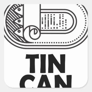 Diecinueveavo de enero - día de la lata pegatina cuadrada