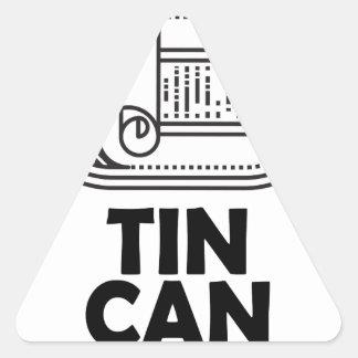 Diecinueveavo de enero - día de la lata pegatina triangular
