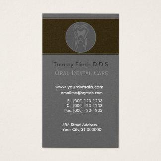 Diente gris minimalista del dentista tarjeta de negocios
