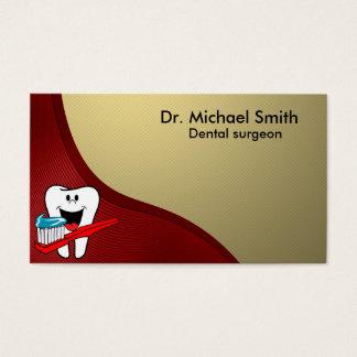 Diente limpio feliz tarjeta de visita