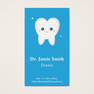 Diente, niños tarjetas dentales, del negocio y de