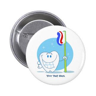Diente sonriente (personalizable) chapa redonda de 5 cm