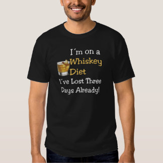 Dieta del whisky camisetas