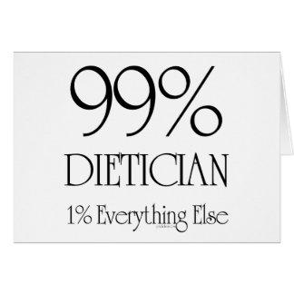 Dietético del 99% tarjeta de felicitación