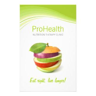 Dietético/nutricionista/aviador personal del instr folleto 14 x 21,6 cm