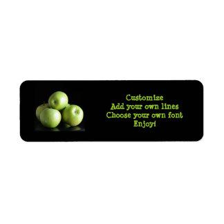 dietético, nutricionista… una manzana al día etiquetas de remite