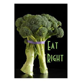 dietético y nutricionistas tarjetas de visita grandes
