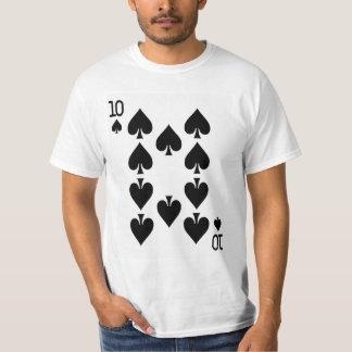 Diez del naipe de las espadas camiseta