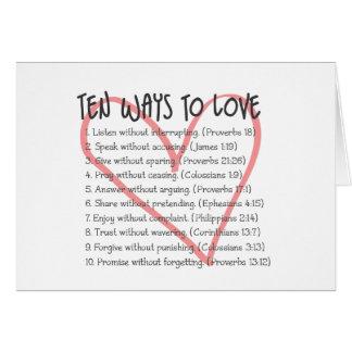 Diez maneras de amar la tarjeta