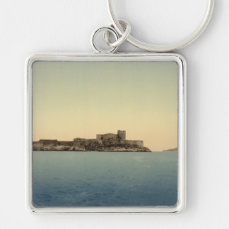 d'If del castillo francés, Marsella, Francia Llavero Cuadrado Plateado