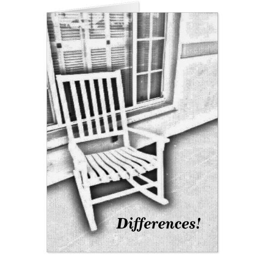 ¡Diferencias! Tarjeta De Felicitación