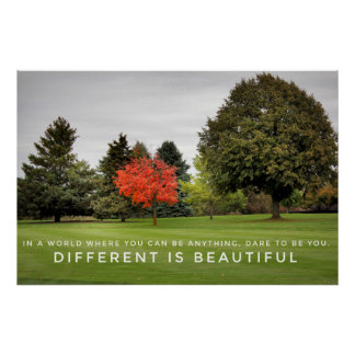 Diferente es el poster hermoso póster