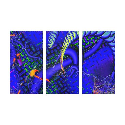 Difícil maldiga el fractal 3D Lona Estirada Galerías