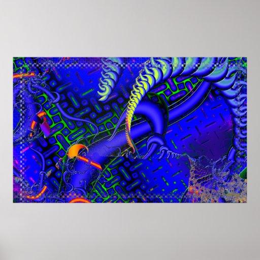 Difícil maldiga el fractal 3D Posters
